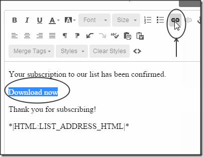 insert-link-mailchimp