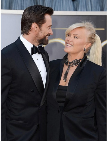 Hugh and wife Deborra-Lee Jackman Oscars 2013