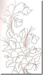 risco flor pintura em tecido 13