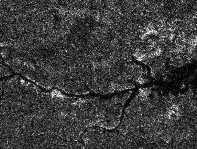 rio de metano em Titã