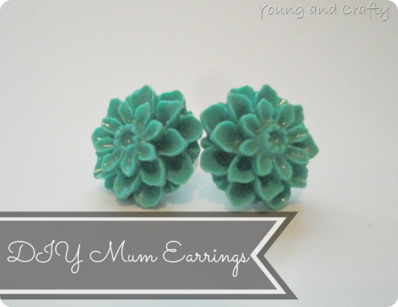 DIY Mum Earrings