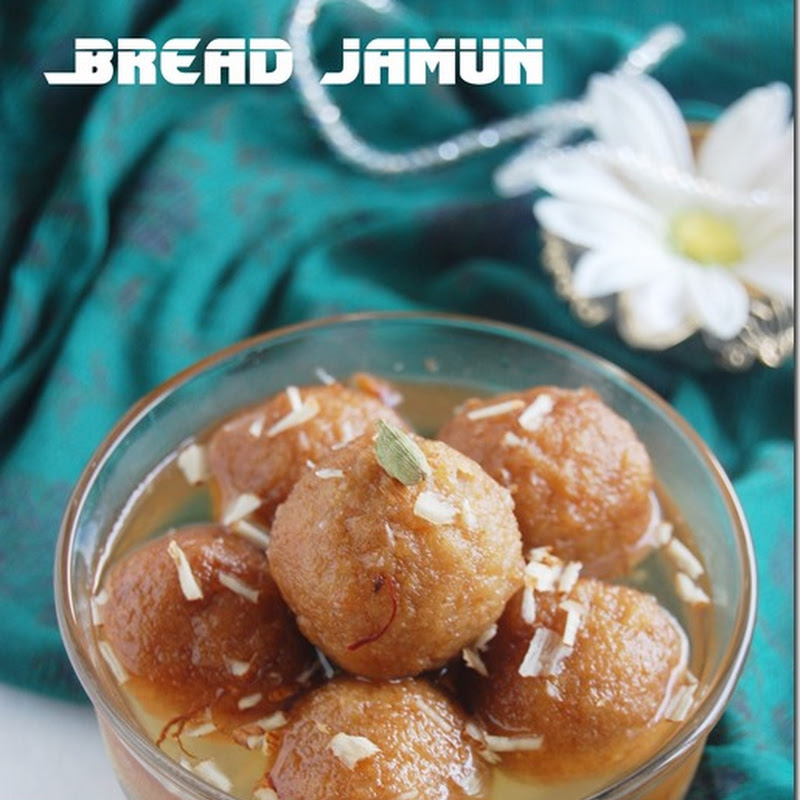 Bread jamun with almond raisin stuffing