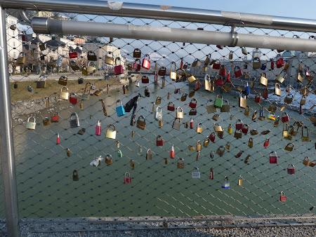 Obiective turistice Salzburg: podul cu lacate peste Salzach