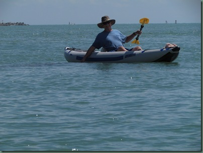 al kayaking fort pierce inlet manatee right by his hand