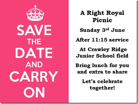 A Right Royal Picnic in Camberley on Sunday 3 June