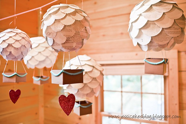 Baby Shower Vintage Hot Air Balloon Decorations
