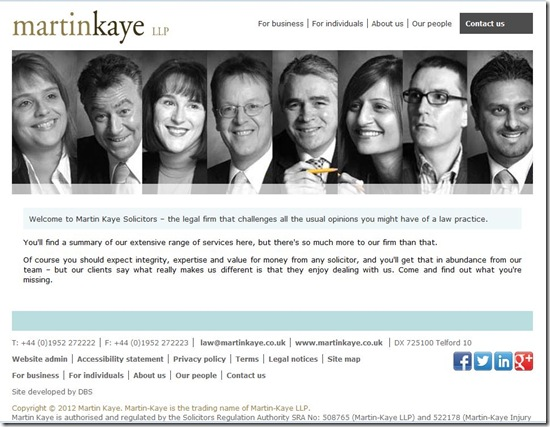 Martin Kaye website