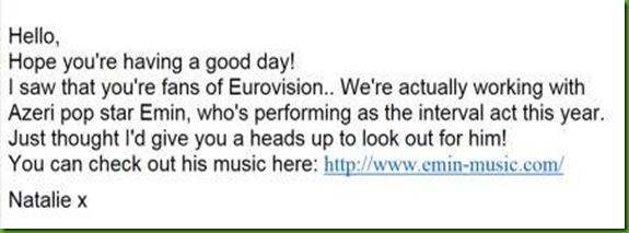 Emin Eurovision Song Contest