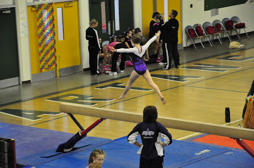 Natalie's split leap on the beam