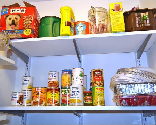 organized pantry canned goods