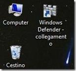 Icona di Windows Defender aggiunta al Desktop di Windows 8