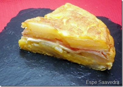 tortilla rellena jamon queso