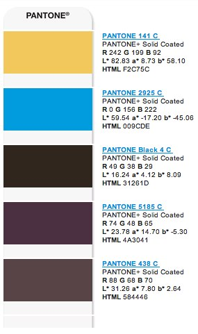 A myPANTONE color palette sent from my iPhone