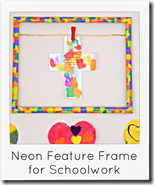 neon feature frame