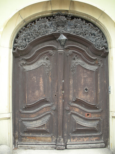 You can tell how much thought and hard work went into this masterpiece of a door. (Budapest)