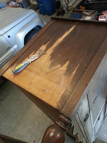 Removing Wood Veneer 1