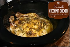 Many Waters The Easiest Crockpot Chicken Recipe You've Ever Seen