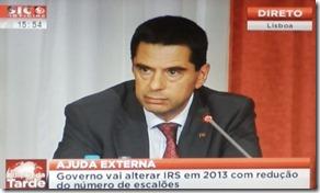 Vitor Gaspar anuncia mais cortes e impostos. Set.2012