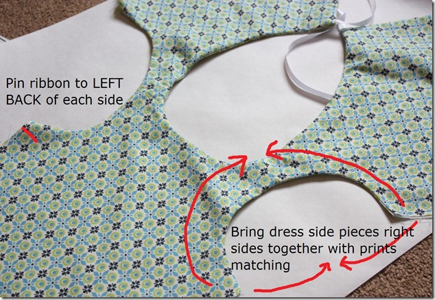 Reversible Dress Side Instructions
