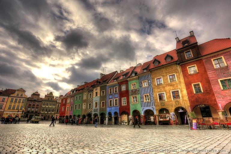 Krämerhäuser am Markt in Posen, Polen