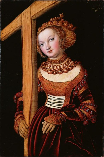 St. Helena and the True Cross by Lucas Cranach the Elder, Cincinnati Art Museum, bequest of Mary E Emery