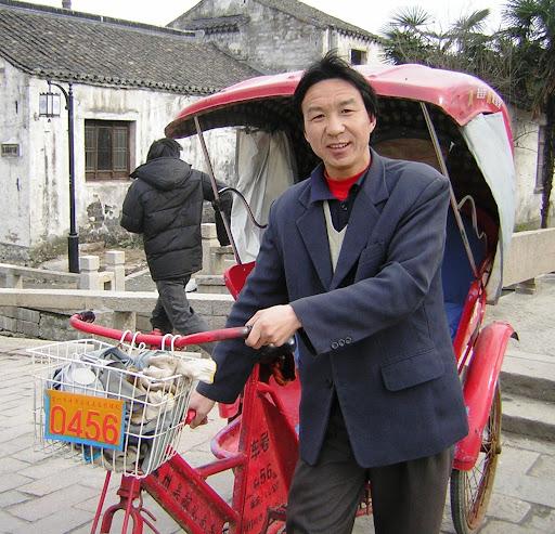 Cyclo-pousse à Suzhou