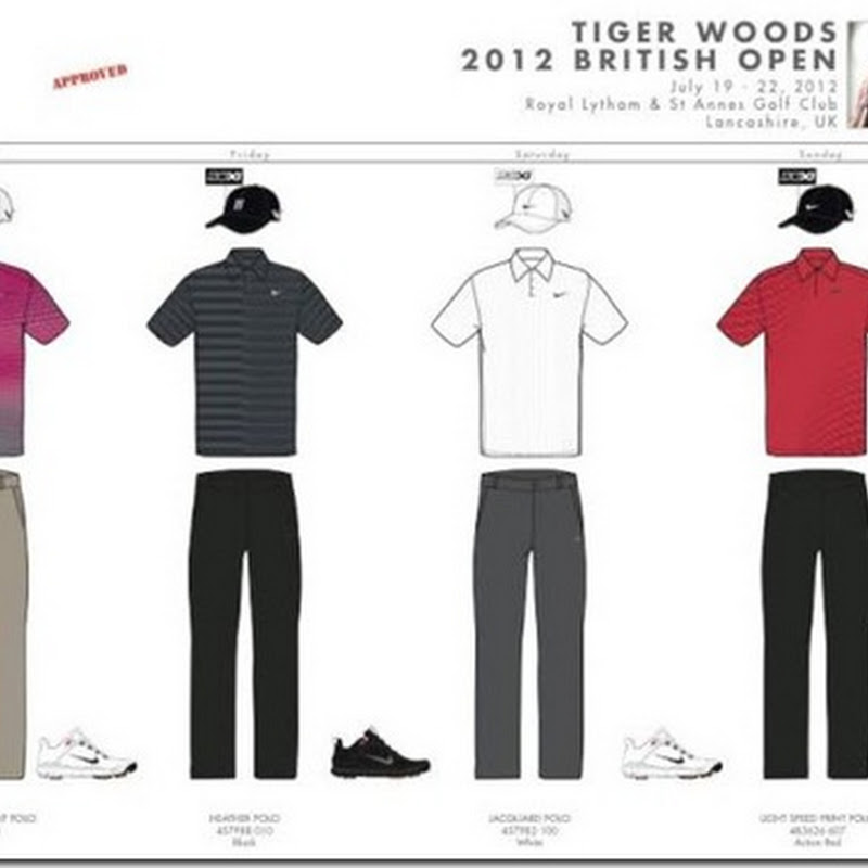 Rickie Fowler, Tiger Woods and Every Other Player's Outfits for the 2012 Open Championship