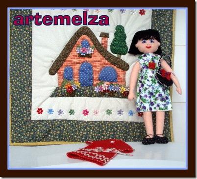 artemelza - boneca de feltro