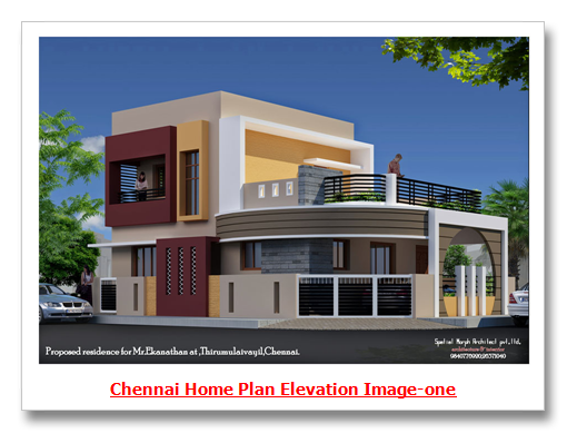 N Home Elevation Images : Chennai home designs plan elevation image one