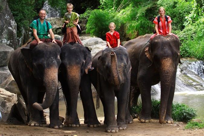 Imagini Thailanda: Familia de australieni la finalul zilei, Patara, Thailanda.JPG