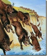 cerdos endemoniados ateismo