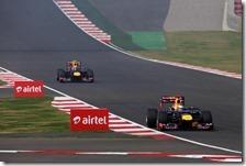 Le Red Bull conquistano la prima fila nel gran premio d'India 2012