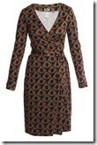 Diane von Furstenberg Vintage Print Wrap Dress