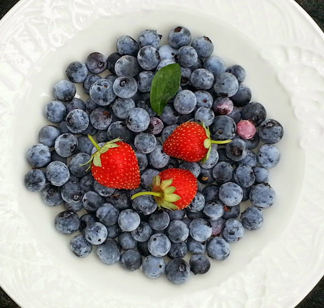 Eat blueberries and strawberries for health