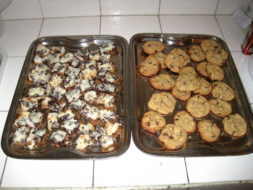 Magic Bars and Chocolate Chip Cookies