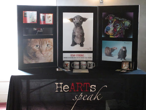 HeARTs Speak, animal welfare organization chosen to benefit from the event.