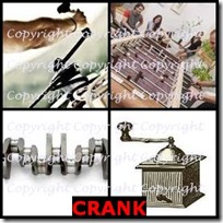 CRANK- 4 Pics 1 Word Answers 3 Letters