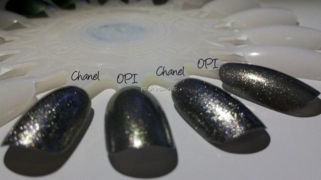Chanel Graphite vs OPI Number One Nemesis 2 coats