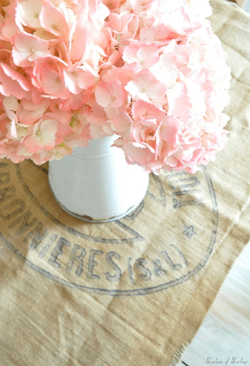 French burlap grainsack