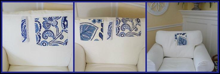 collage of all three fabrics