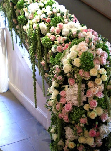 botanical brouhaha Floral Staircase Treatments