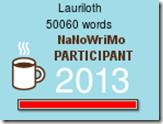 NaNoWriMo 2013 Wordcounter (50k)