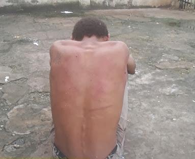 preso por populares no cracolandia 13 de junho, tentando trocar um not buk por drpga