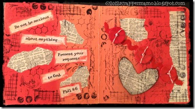 do not be anxious minibook page w border