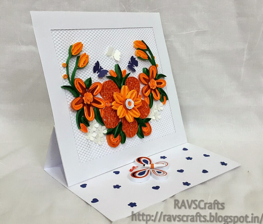 Ravscrafts quilled easel card i made this card on request for teachers day to be given to a teacher who really admires the art of quilling its worth making this card kristyandbryce Image collections