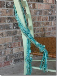 teal necklace scarf
