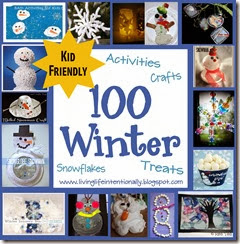 100 winter crafts, kids activities, snowflakes, and snacks for kids