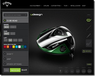 Callaway udesign webpage