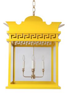 Tobi Fairley yellow Rothesay lantern