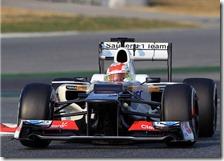 Perez nei test di Barcellona 2012